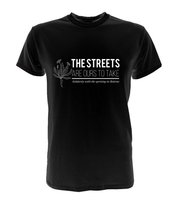 The streets are ours to take tshirt with dandelion - black